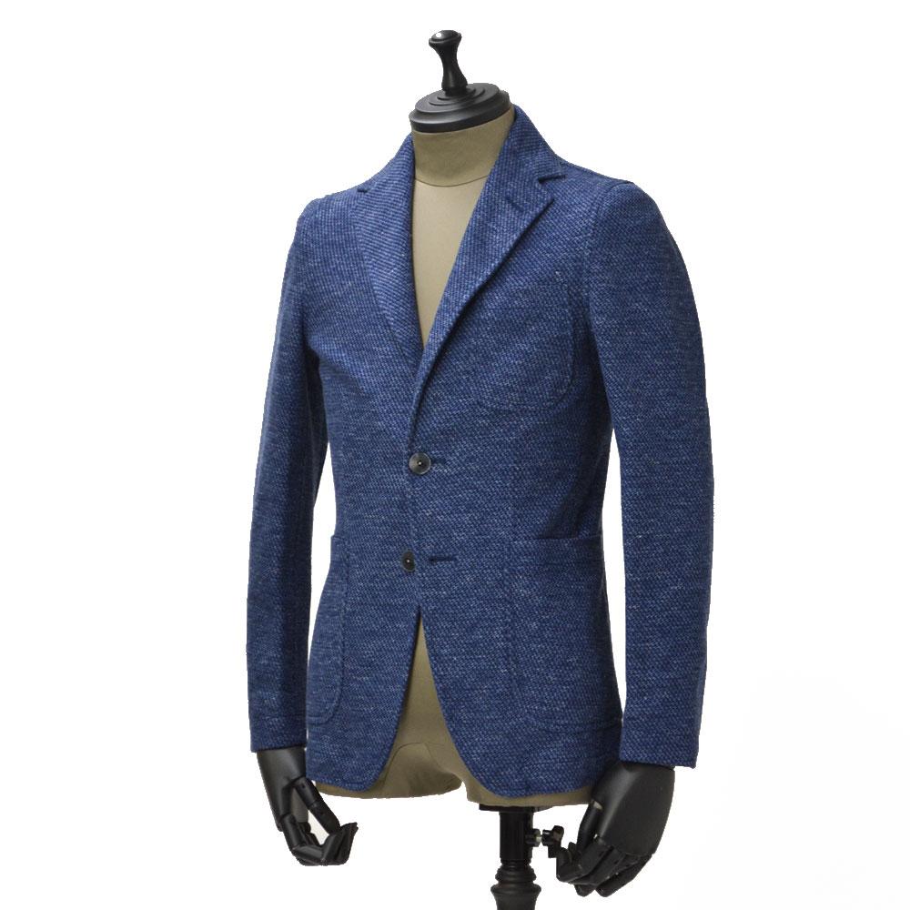 THE GIGI【ザ ジジ】シングルジャケット ANGIE F035 650 コットン リネン ジャガード ブルー