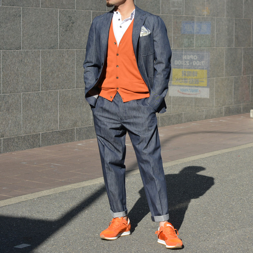 ~洒脱なセットアップに欲するオレンジ~THE GIGI【ザ ジジ】、roberto collina【ロベルト・コリーナ】