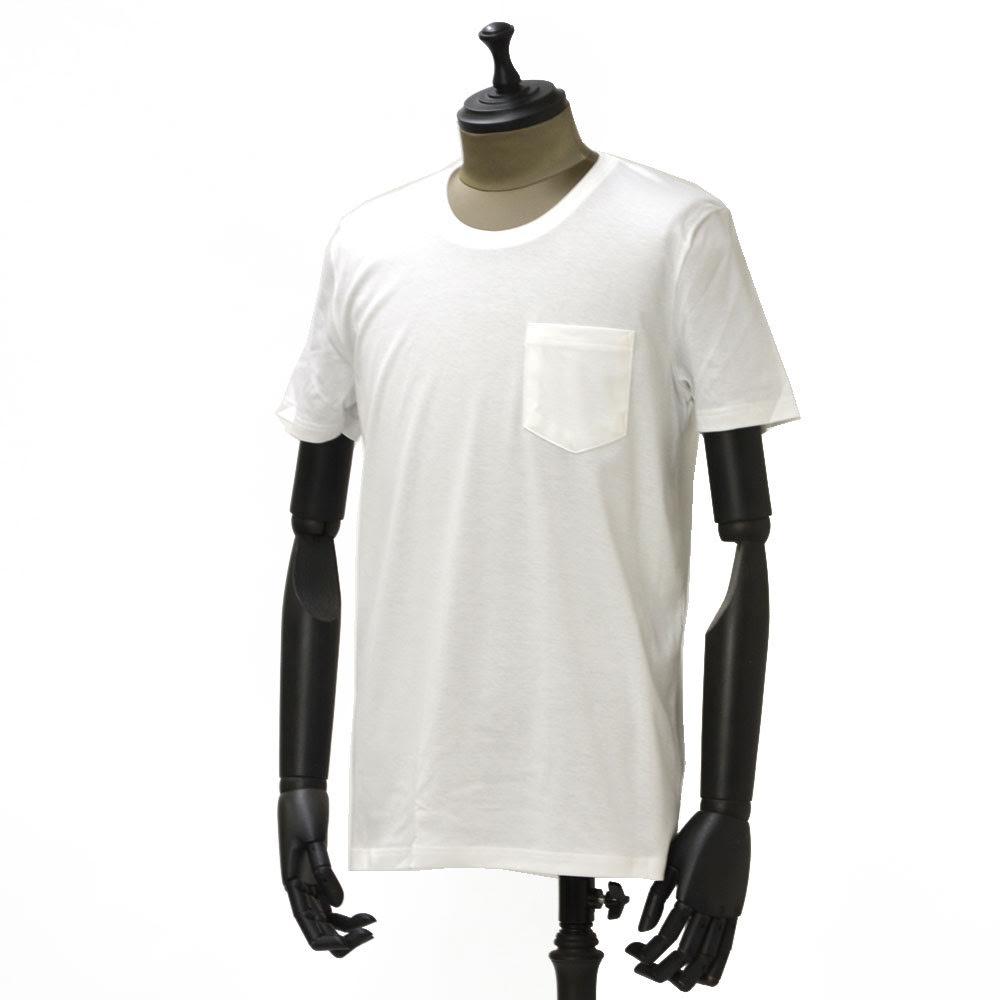 meystory【マイストーリー】ポケット付クルーネックカットソー MS181UA47231 ピマコットン ホワイト