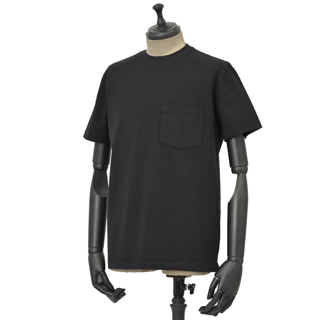 THE GIGI【ザ ジジ】ポケット付きクルーネックカットソー RODI/T H821 900 コットン ブラック