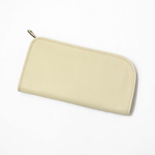 TRAMONTANO【トラモンターノ】クラッチバッグ1452 R ALCE leather ICEBENG (シュリンクレザー ホワイト)