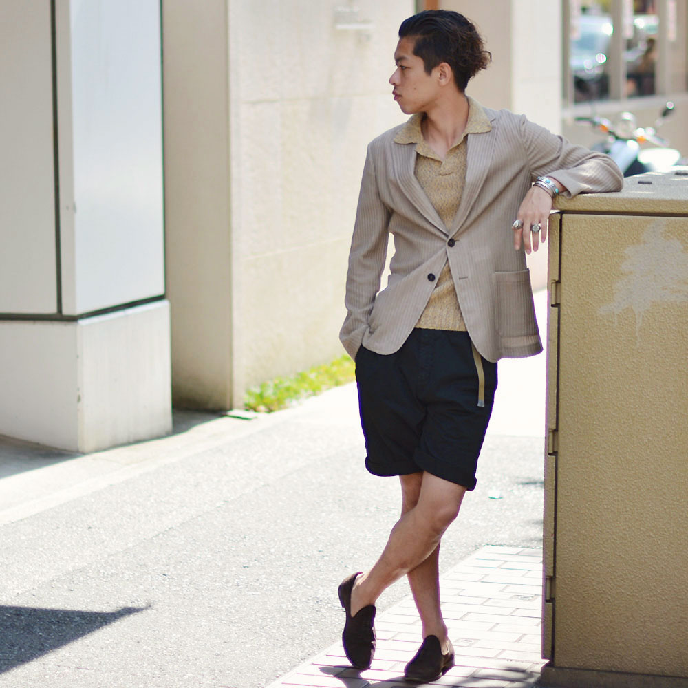 ~夏のジャケットスタイルはショーツで合わせる!!~T-JACKET【ティージャケット】
