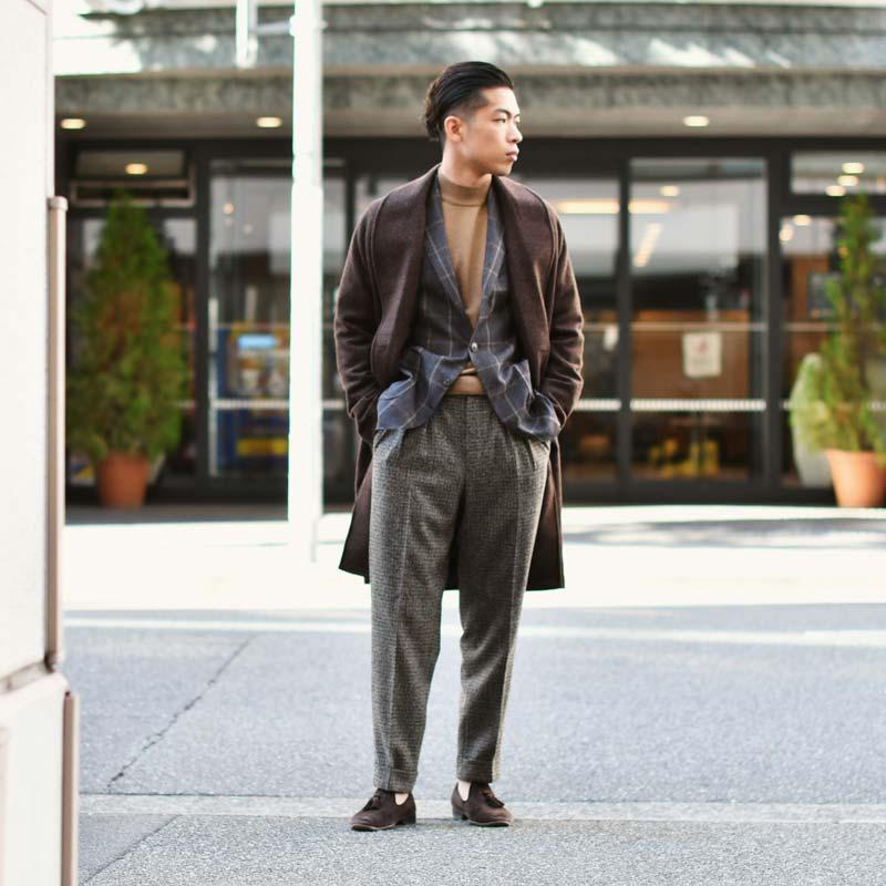 ~ブラウンで纏めた上品なジャケットスタイル~Gabriele Pasini【ガブリエレ パジーニ】